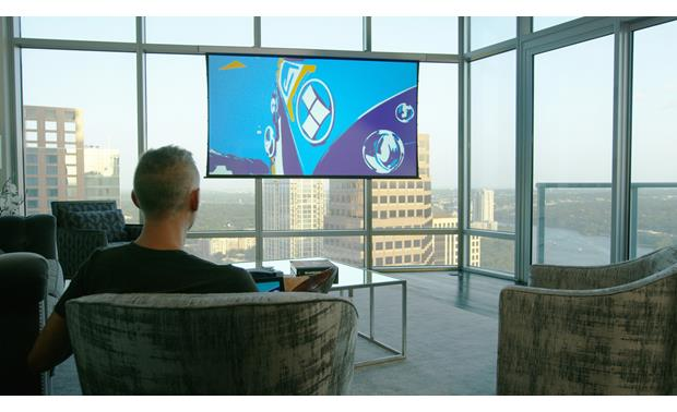 Screen Innovations Solo With a Solo screen, you can put a projector system almost anywhere