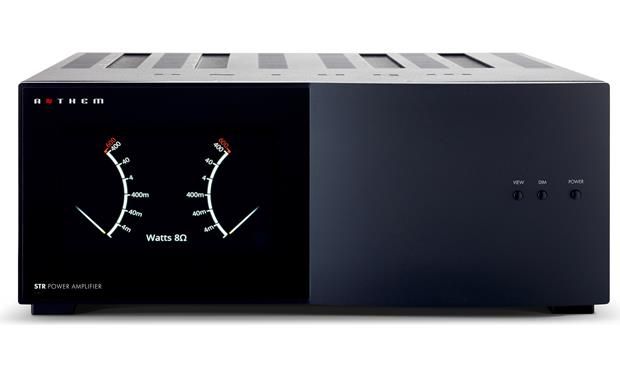 Anthem STR Power Amplifier The front-panel power meters show the instantaneous peaks in the signal for each channel
