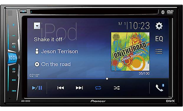Pioneer AVH-201EX The AVH-201EX offers Bluetooth, touchscreen controls, and multi-color illumination options.