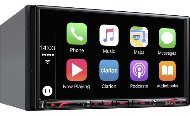 Clarion VX807 Get seamless iPhone integration with Apple CarPlay