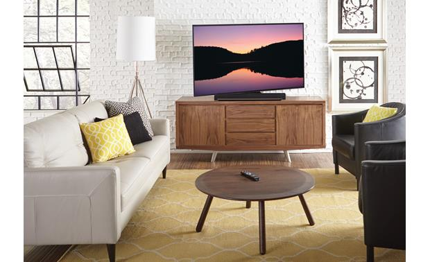 Sanus WSTV1 Swivels up to 20 degrees left or right (TV and cabinet not included)