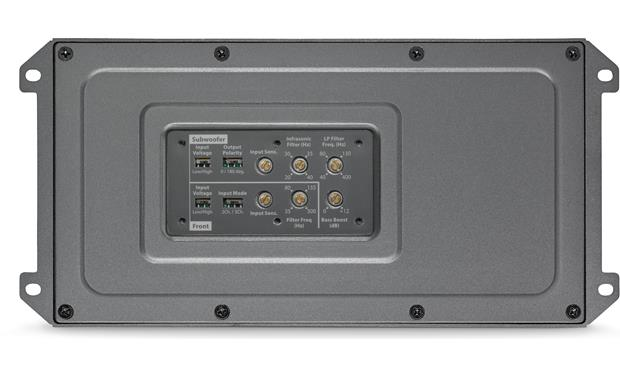 JL Audio MX600/3 Cover removed showing controls