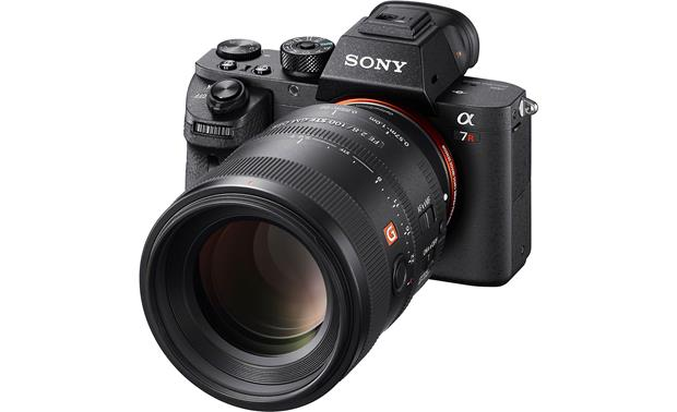 Sony SEL100F28GM FE 100mm f/2.8 STF GM OSS Shown mounted to Sony Alpha a7R (camera not included)