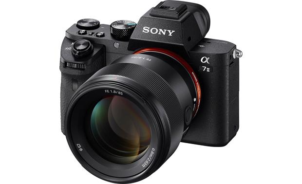 Sony SEL85F18 FE 85mm F/1.8 Shown mounted to Sony Alpha a7 II (camera not included)