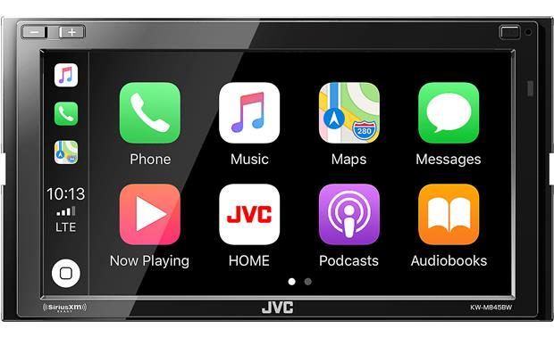 JVC KW-M845BW This JVC digital media receiver works with Apple CarPlay as well as wireless Android Auto.