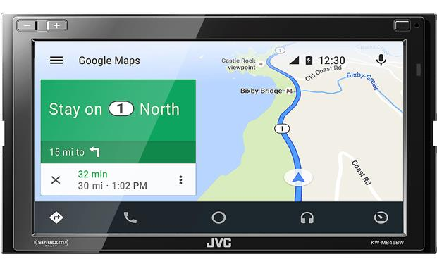 JVC KW-M845BW Use apps to get maps