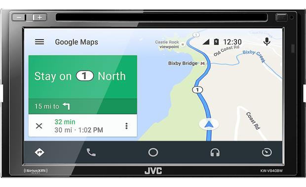 JVC KW-V940BW You can use Google Maps with Android Auto to find your way