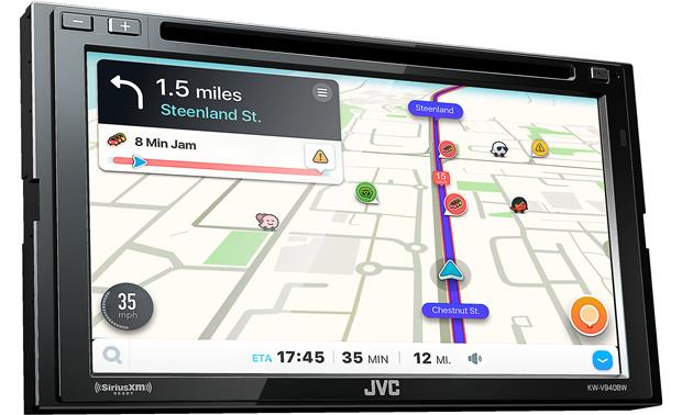 JVC KW-V940BW If you like using the Waze navigation app, you'll love it on the big screen