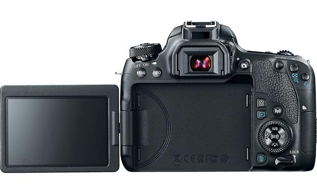 Canon EOS 77D Kit Back, with LCD monitor flipped out