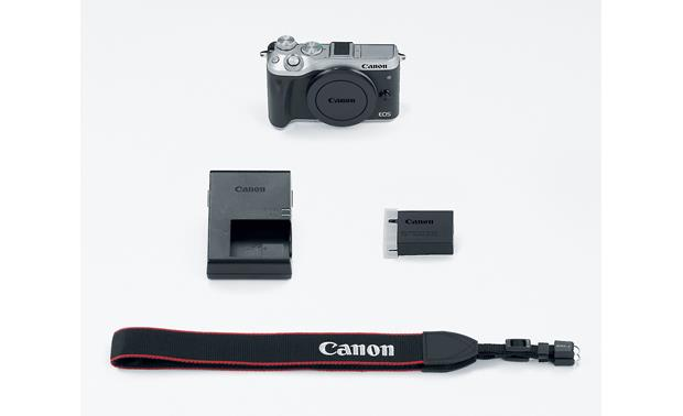 Canon EOS M6 (no lens included) Shown with included accessories