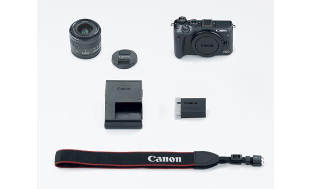 Canon EOS M6 Kit Shown with included accessories