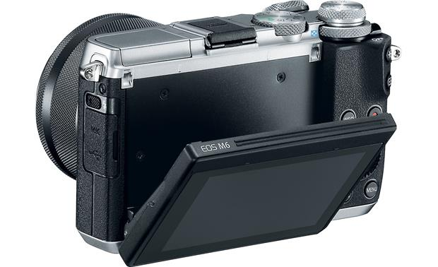 Canon EOS M6 Kit With screen tilted downward