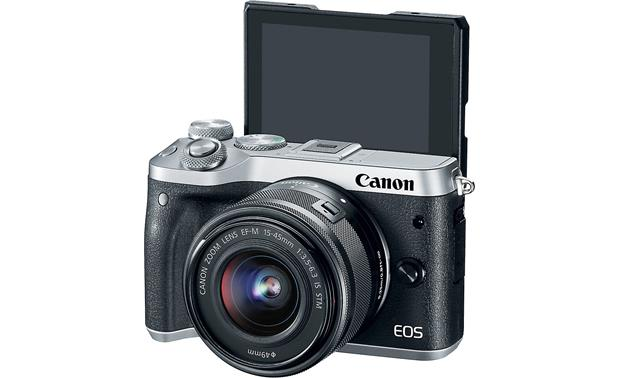 Canon EOS M6 Kit With screen tilted upward