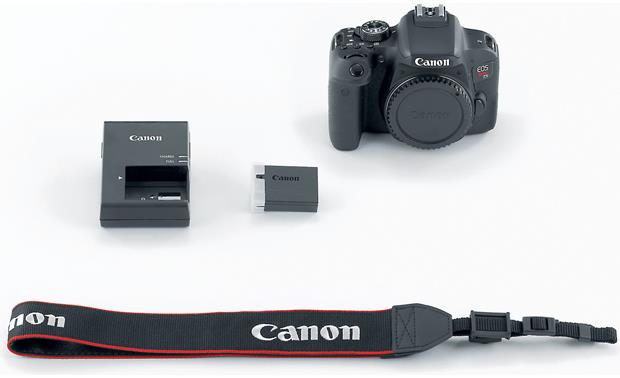 Canon EOS Rebel T7i (no lens included) Shown with included accessories