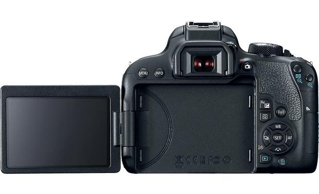 Canon EOS Rebel T7i Kit Back, with LCD screen flipped out