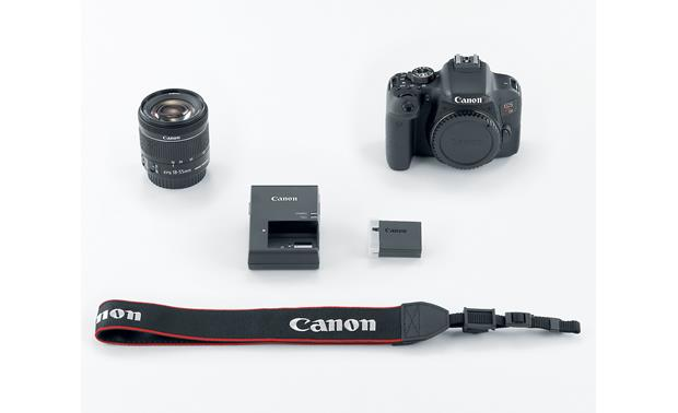 Canon EOS Rebel T7i Kit Shown with included accessories
