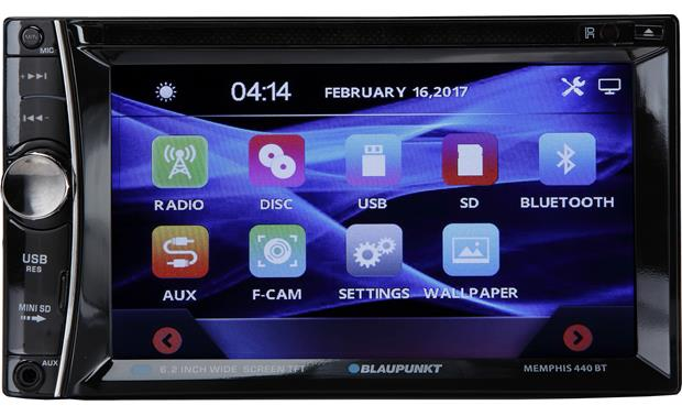 Blaupunkt Memphis 440BT Enjoy touchscreen functionality and wireless convenience with Bluetooth