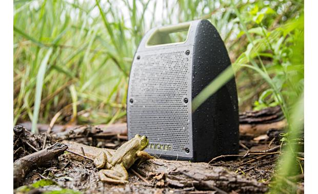Kicker Bullfrog® BF400 Music System Green - waterproof and dust-proof