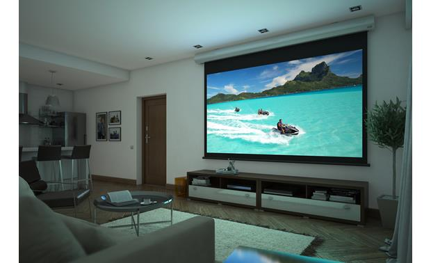 Screen Innovations 1 Series A retractable screen only comes out to play when you want it
