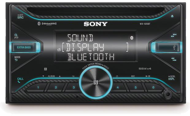 Sony WX-920BT The front panel of the Sony WX-920BT offers easy access to your media.