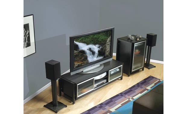 Sanus SF34 Shown as part of a home theater system (speakers not included)