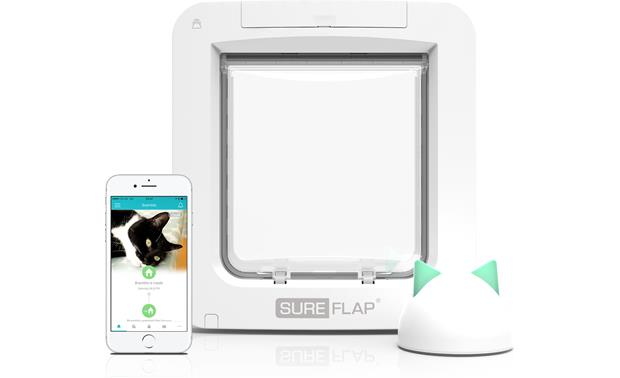 SureFlap Microchip Pet Door Connect Add the hub (sold separately) to remotely monitor and control the door using the Sure Petcare app