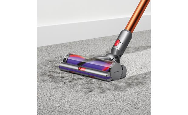 Dyson Cyclone V10 Absolute Torque drive cleaner head drives dirt from carpets