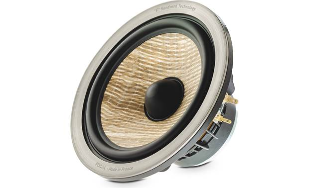 Focal Aria 936 Close-up of flax/fiberglass woofer