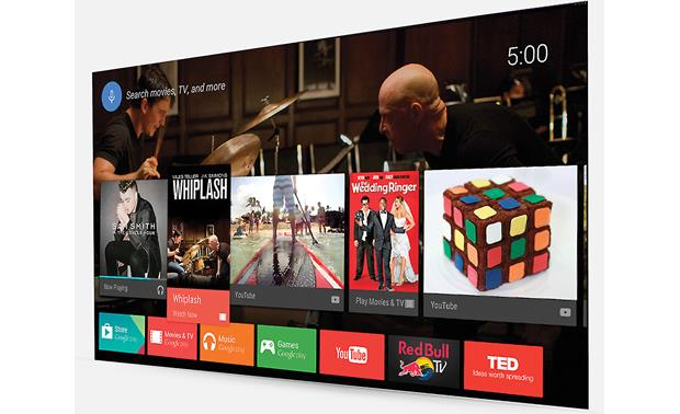 Sony XBR-55A8F The Android TV interface