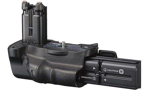 Sony VG-C77AM Double your shooting time with two rechargeable InfoLITHIUM™ batteries.