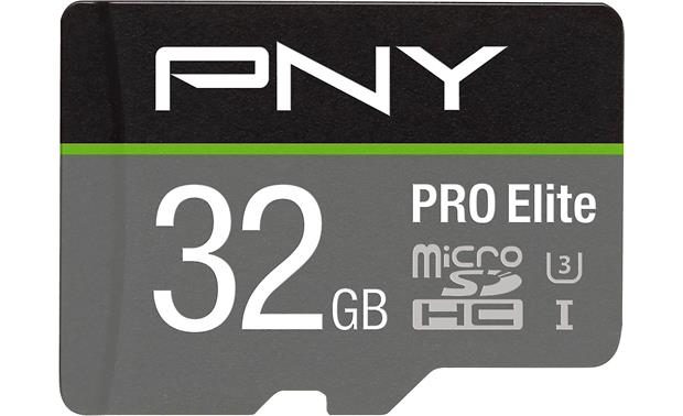 PNY Pro Elite microSDHC Memory Card Front