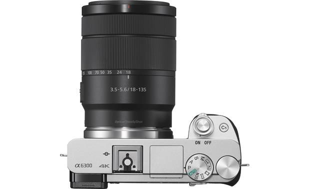 Sony a6300 Telephoto Lens Kit Top, with included lens attached