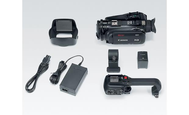 Canon XA11 Shown with included accessories