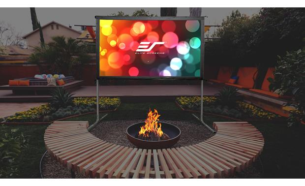 Elite Screens Yard Master 2 Dual Yard Master 2 Dual makes setting up a backyard theater easy