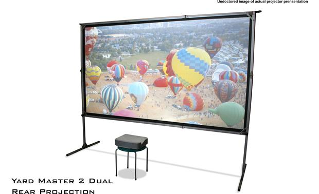 Elite Screens Yard Master 2 Dual Rear-projection mode using an ultra short-throw projector