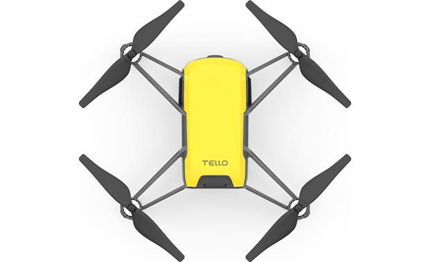 DJI Tello Colorful Bundle Top view of drone with snap-on cover in place