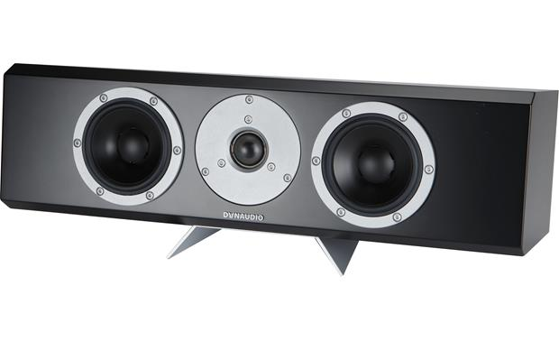 Dynaudio Excite X24 Center A removable metal plinth angles the speaker slightly upward for below-screen placement