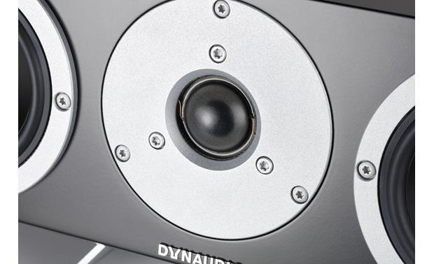 Dynaudio Excite X24 Center Close-up view of soft-dome tweeter