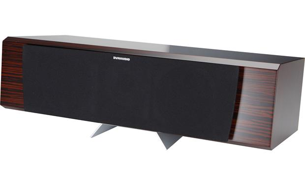Dynaudio Excite X28 Center A removable metal plinth angles the speaker slightly upward for below-screen placement