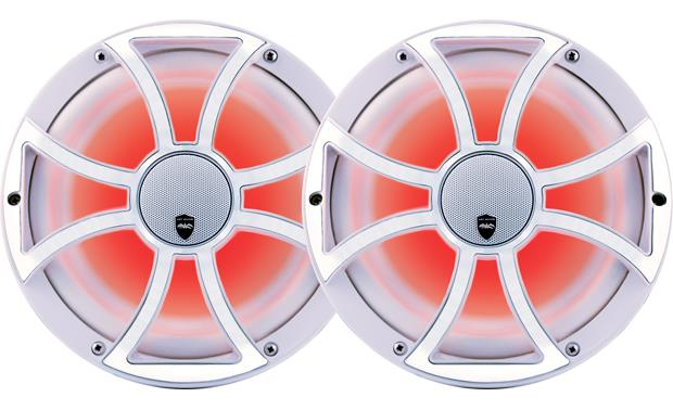 Wet Sounds REVO CX-10 XS-W-SS marine speakers with LED lighting