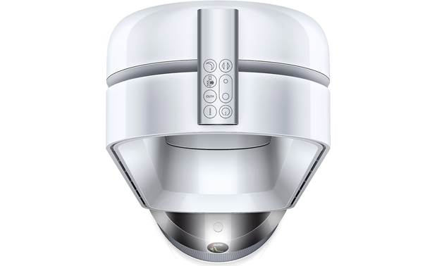 Dyson Pure Cool™ TP04 Remote control is curved and magnetic for neat storage on top of the fan