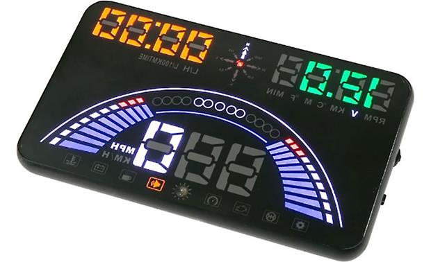 Scosche HUD580GC A vibrant heads-up display, night or day