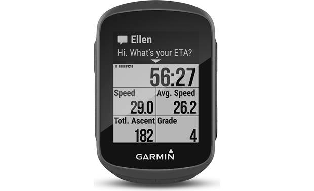 Garmin Edge 130 Customizable display with smart notifications.