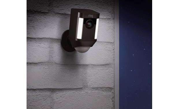 Ring Spotlight Cam Battery and Solar Panel Bundle The LED spotlights are motion-activated