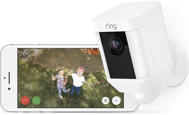 Ring Spotlight Cam Battery Catch the happy action, too!