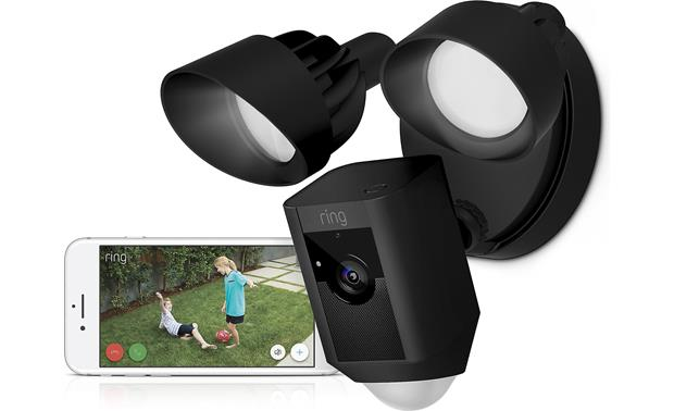 Ring Floodlight Cam Camera captures crisp, HD footage during the day — no floodlights necessary!