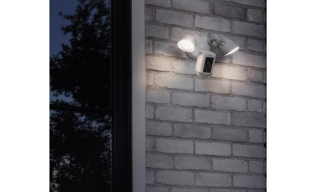 Ring Floodlight Cam Advanced dual motion sensors can detect motion around corners