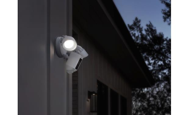 Ring Floodlight Cam Ultra-bright LED floodlights are motion-activated
