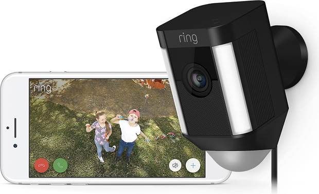 Ring Spotlight Cam Wired Catch the happy action, too!