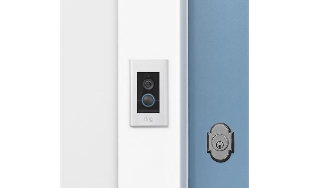 Ring Video Doorbell Elite Securely flush-mounted